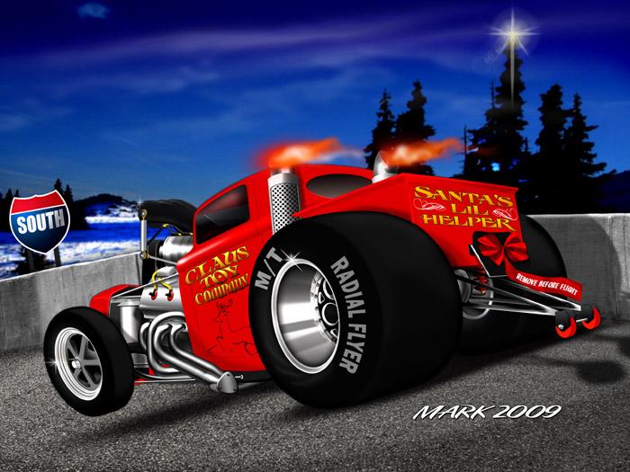 Christmas Hot Rod Cards, Merry Christmas Guys - Draglist.com Drag ...