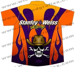Stanley And weiss Racing Extreme Pro Modified Die Sublimation Crew Shirts