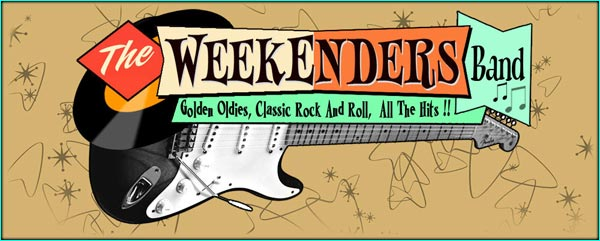 The Weekenders Rock n roll band website